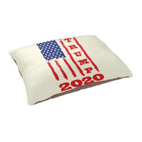 Trump 2020 USA Flag Dog Cat Pet Bed, Gifts for Republicans Conservative