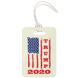 Trump 2020 USA Flag Luggage Tag, Gifts for Republicans Conservative
