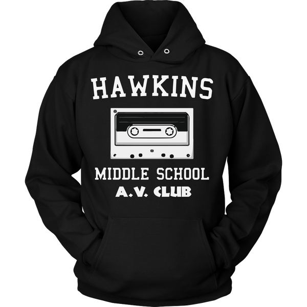 Hawkins Middle School Cassette Unisex Hoodie for Men Women Plus Size