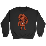 Dachshund Unisex Sweatshirt, Funny Gift for Cute Dog Lovers