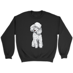 Poodle Unisex Sweatshirt, Funny Gift for Cute Dog Lovers