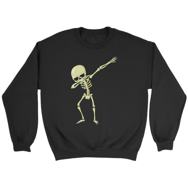 Halloween Skeleton Dabbing Sweatshirt, Gifts for Trick Treat Skull Party