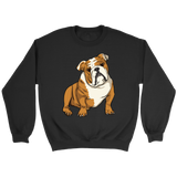 Bulldog Unisex Sweatshirt, Funny Gift for Cute Dog Lovers