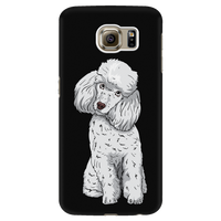 Poodle Smart Phone Case for Samsung Galaxy, Funny Gift for Cute Dog Lovers