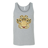 White Tiger Paw Face Tank Top for Men and Women