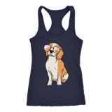 Beagle Womens Racerback Tank Top, Cute Gift for Cute Dog Lovers