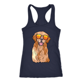 Golden Labrador Retriever Womens Racerback Tank Top, Funny Gift for Dog Lovers