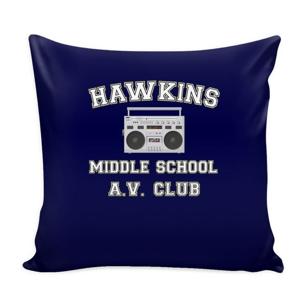 Stranger Hawkins Middle School Throw Pillow Covers for Women Men Kids Things A V Club