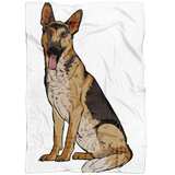 German Shepherd Fleece Blanket, Funny Gift for Dog Lovers