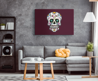 Skull Wall Decor Canvas, Sugar Gifts for Day of the Dead