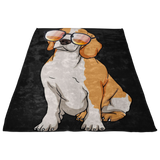 Beagle Fleece Blanket, Cute Gift for Cute Dog Lovers