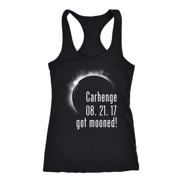 Solar Eclipse Carhenge Got Mooned Racer-back Tank Top