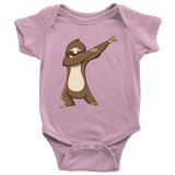 Cute Funny Dancing Sloth Romper Onesie for Baby Boys and Baby Girls