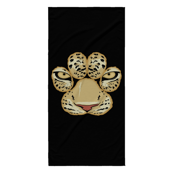 White Tiger Paw Face Funny Beach Towel for Men Women Kids Boys Girls