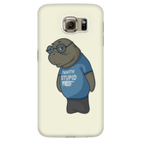 Manatee Im With Stupid Commercial Novelty Smart Phone Case for Samsung Galaxy