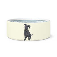 Black Labrador Dog Bowl, Funny Gift for Cute Dog Lovers