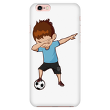 Cute Funny Dabbing Dance Soccer Smart Phone Case for iPhone for Boys Men Women
