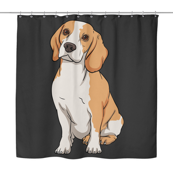 Beagle Shower Curtains, Funny Gift for Cute Dog Lovers