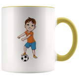 Floss Like a Soccer Boss Accent Coffee Mug, Floss Dancing Gifts