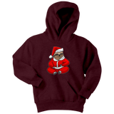 Sloth Santa Youth Hoodie, Christmas Gifts for Sloth Lovers