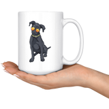 Black Labrador White Coffee Mugs, Cute Gift for Cute Dog Lovers