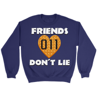 Friends Don't Lie Stranger Heart Shaped Waffle Eleven Unisex Plus Size Crewneck Sweatshirt for Men Women