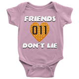 Friends Don't Lie Stranger Heart Shaped Waffle Eleven Baby Romper Onesie Baby Boy Baby Girl
