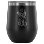 Poodle Dog Sunglasses Funny Wine Tumbler, Gifts for Dog Puppy Lovers