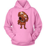 Dachshund wth Sunglasses Funny Hoodie Sweatshirt, Gifts for Dog Puppy Lovers