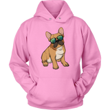 French Bulldog Sunglasses Funny Hoodie Sweatshirt, Gifts for Dog Puppy Lovers