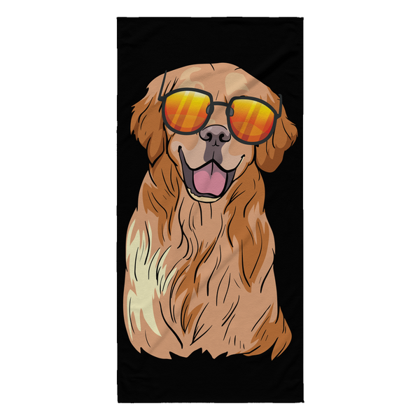 Golden Labrador Retriever Beach Towels, Funny Gift for Dog Lovers