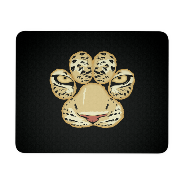 White Tiger Paw Face Mousepad for Women Men Kids Gamers