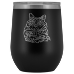 Balinese Cat Wine Tumbler, Cat Lover Gifts 9186A