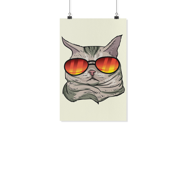 American Shorthair Cat Wall Poster, Cat Lover Gifts 9184A