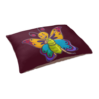 Butterfly Dog Cat Pet Bed, Moth Lover Gifts