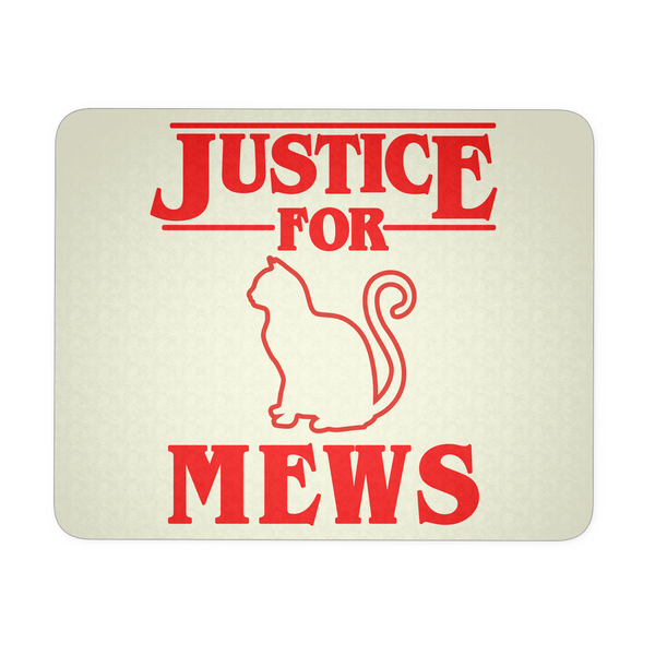 Justice for Mews Mouse Pad, Christmas Gifts for Cat Lovers