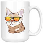 Bengal Cat White Coffee Mug 15oz, Cat Lover Gifts 9187A