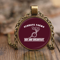 Schrute Farms Bed n Breakfast Beets Charm Pendant Necklaces for Women Men Kids
