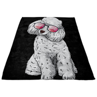 Poodle Fleece Blanket, Cute Gift for Cute Dog Lovers