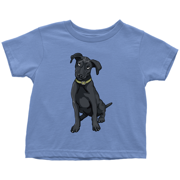Black Labrador Shirt for Toddlers, Funny Gift for Cute Dog Lovers