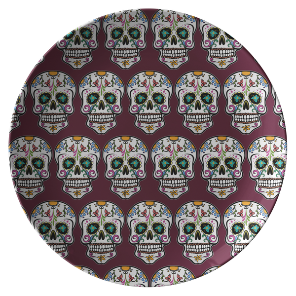 Skull Dinner Plate, Sugar Gifts for Day of the Dead