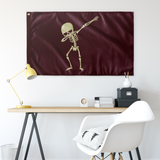 Halloween Skeleton Dabbing Flag, Gifts for Trick Treat Skull Party