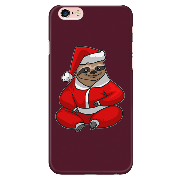 Sloth Santa Phone Case for iPhone, Christmas Gifts for Sloth Lovers