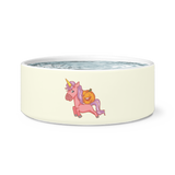Halloween Unicorn Pumpkin Pet Dog Bowl, Gifts for Trick Treat Party