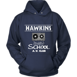 Stranger Hawkins Middle School Unisex Hoodie for Men Women Plus Size Things A V Club