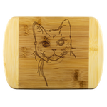 American Wirehair Cat Wood Cutting Board, Cat Lover Gifts 9185
