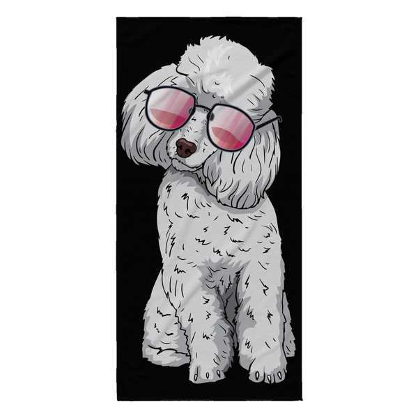 Poodle Beach Towels, Cute Gift for Cute Dog Lovers