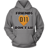 Friends Don't Lie Stranger Heart Shaped Waffle Eleven Unisex Hoodie for Men Women Plus Size