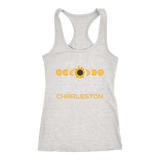 Solar Eclipse Charleston Racer-back Tank Top