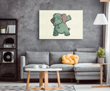 Elephant Wall Decor Canvas, Funny Dabbing Gifts for Animal Dance Lovers